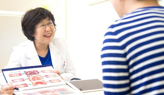 治療目標を患者様と徹底的に話し合う